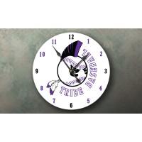 Logo Clock - Tribe - Baseball